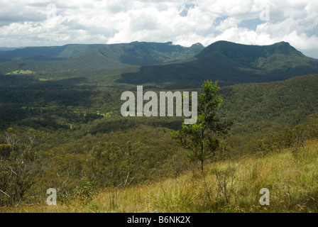 Cunninghams Gap ,  Scenic Rim , Queensland , Australia - Stock Photo