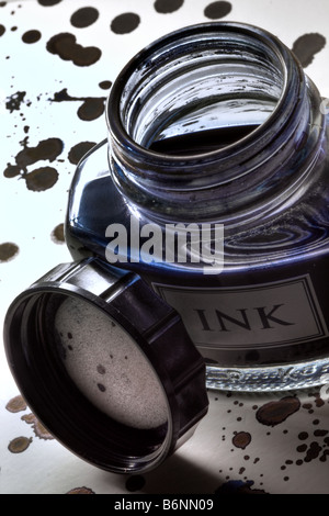 Ink bottle - Stock Photo