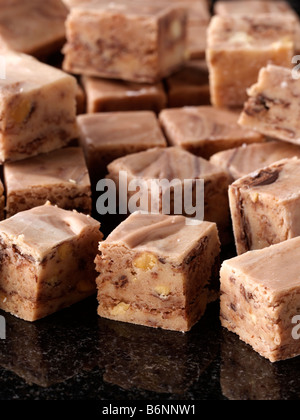 Peanut butter fudge sweets - Stock Photo