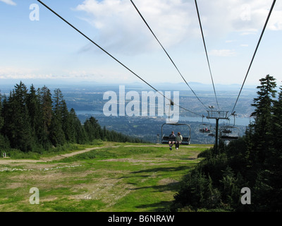 Chairlift In Summer Grouse Mountain BC Canada