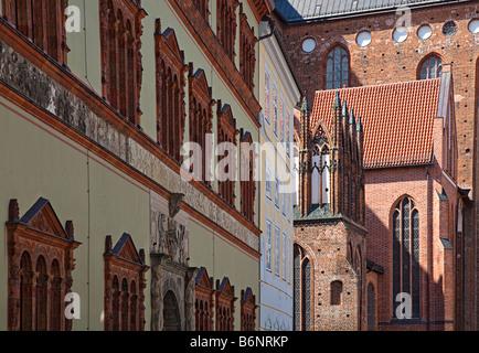 Church architecture Wismar Germany - Stock Photo