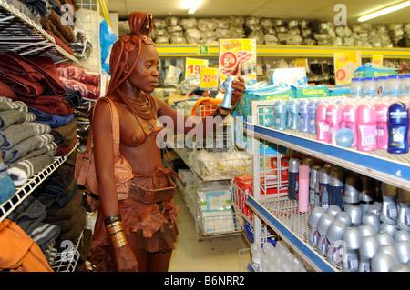 himba girl opuwo namibia - Stock Photo