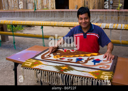 Santa Ana Del Valle Oaxaca Mexico Traditional Geometric