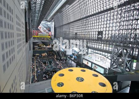 Inside Kyoto Station - Stock Photo