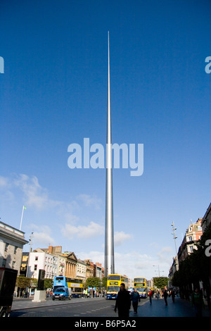 Dublin, Ireland - Monument, Spire or Tower of Light in O'Connell Street, Dublin, Ireland. - Stock Photo