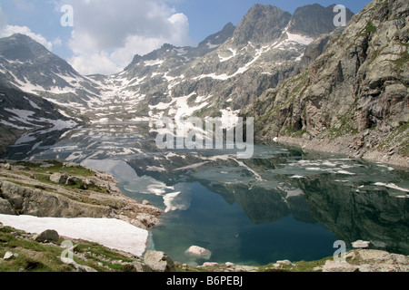 Lac Basto in the Mercantour National Park France Alpes Maritimes - Stock Photo