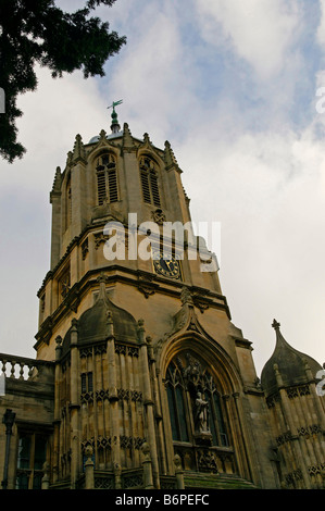 Tom Tower, Christ Church college in Oxford - Stock Photo