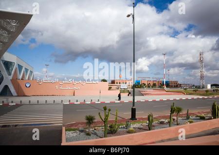 Marrakech Morocco December Menara International Airport Terminal 2 Departures and Arrivals building - Stock Photo