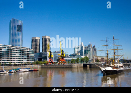 Corbeta Uruguay expedition ship in Puerto Madero harbor harbour Buenos Aires Argentina South America - Stock Photo