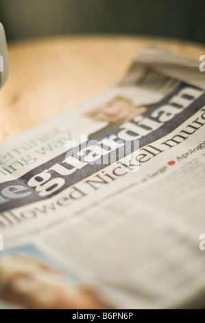 British press:  The Guardian newspaper front page UK - Stock Photo