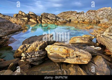 Point Ellan rock pool - Stock Photo