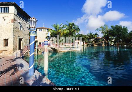 Venetion Pool, public swimming pool, Coral Gables, - Stock Photo