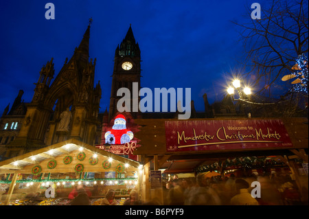 The Christmas Markets Manchester - Stock Photo
