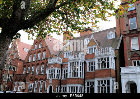 Houses in Harrington Gardens South Kensington SW7 London - Stock Photo