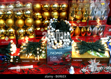Christmas decorations on sale in asda stock photo royalty for Christmas decorations sale online