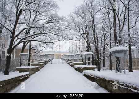 The Catherine Park, Tsarskoe Selo, Pushkin, Saint-Petersburg, Russia. - Stock Photo