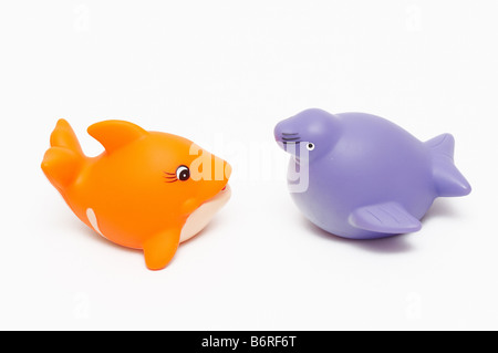 fish and seal toys - Stock Photo
