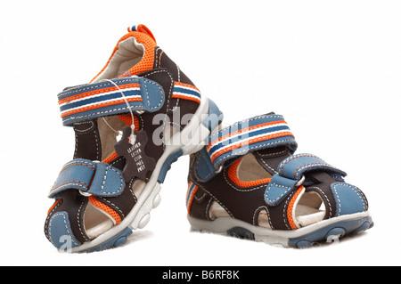 pair of child's sandals - Stock Photo