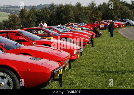 Cars Lined Up Waiting To Race At Harewood Speed Hillclimb In Stock