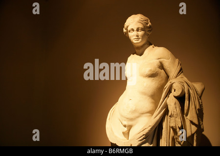 Statue at the archaeological museum in Istanbul, Turkey - Stock Photo