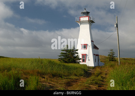 Lighthouse at French River, Prince Edward Island, Canada - Stock Photo