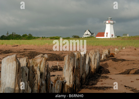 Lighthouse at French River, Prince Edward Island - Stock Photo