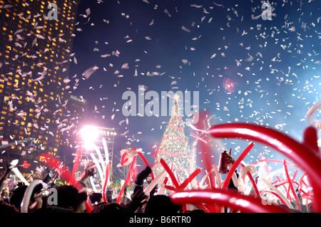 New Year 2009 in Toronto, Canada - Stock Photo