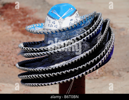 Mexican sombreros for sale, Mexico Cty - Stock Photo