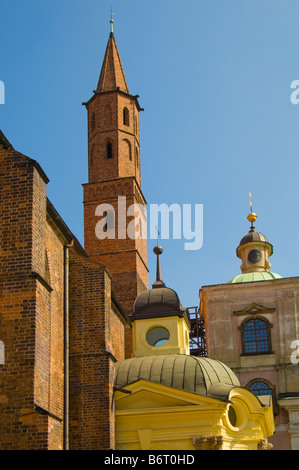 Wroclaw, Silesia, Poland. Church of St Vincent and St James on ul Nankiera (street) - Stock Photo