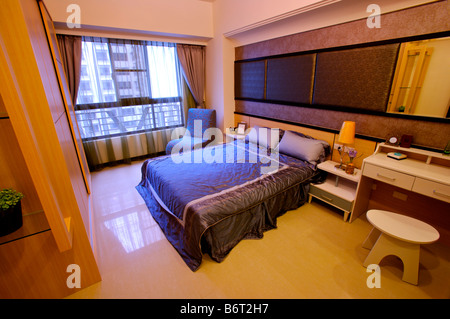 Bedroom in modern style - Stock Photo