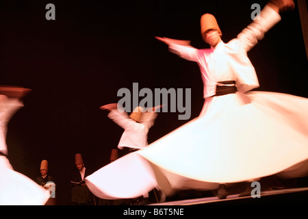The whirling dervishes in Istanbul, Turkey - Stock Photo