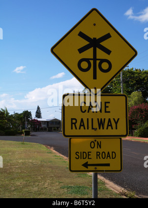 sugar cane railway - Stock Photo