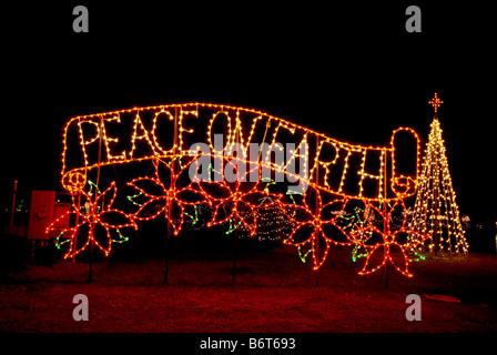 Peace On Earth Holiday Light Display Woodland Light