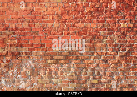 large and old red brick wall - Stock Photo