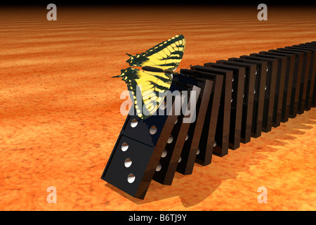 Butterfly effect. - Stock Photo