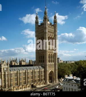 Victoria Tower Palace of Westminster - Stock Photo