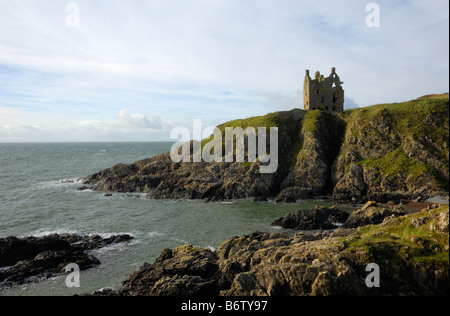 Dunskey Castle, near Portpatrick, Rhins of Galloway, Dumfries & Galloway, Scotland - Stock Photo