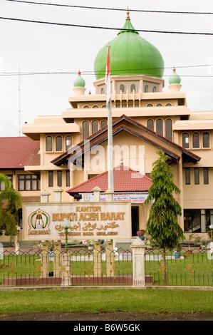 Bupati office in Banda Aceh, Sumatra - Stock Photo