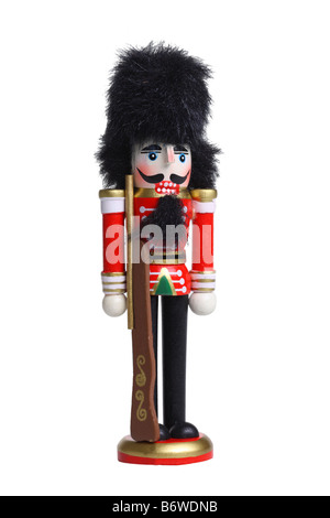 Nutcracker cutout isolated on white background - Stock Photo