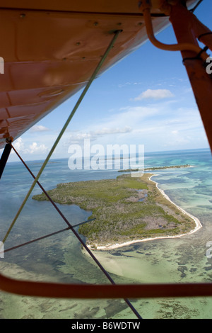 Aerial view of small key near Key West Florida - Stock Photo