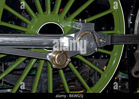 Driving wheel, connecting rod, crank rod and balance weight on the new A1 steam locomotive 'Tornado' - Stock Photo