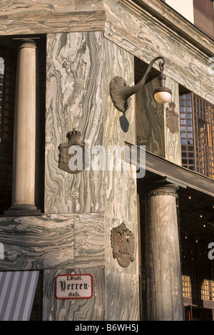 Detail of the Looshaus building, Michaelerplatz, Vienna, Austria - Stock Photo