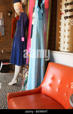 ... Clothing And Furniture In Crowded Second Hand Store   Stock Photo