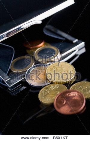 Euros in a wallet - Stock Photo