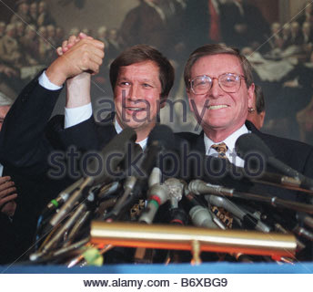 5 1 97 house budget chairman john kasich r ohio right and bob 5 2 97 the balanced budget plan of 1997 at the gop announcement of the agreement platinumwayz