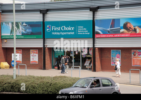 first choice travel agents shop stroud uk stock photo