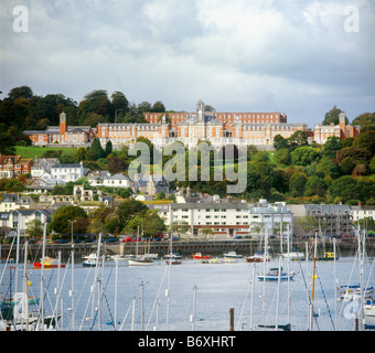 Britannia Royal Naval College and Dartmouth Harbour, Devon, England - Stock Photo