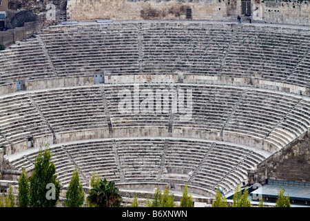 Roman amphitheater in Amman Al Qasr site Capital of Jordan - Stock Photo