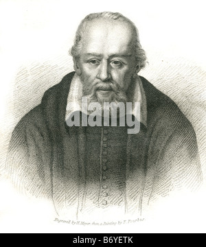 George Buchanan (February, 1506 - 28 September 1582), was a Scottish historian and humanist scholar. - Stock Photo