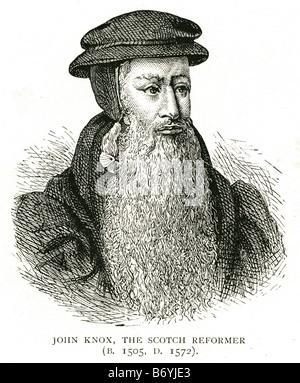 John Knox the scotch reformer 1505 1572 Scottish clergyman Protestant Reformation Presbyterian denomination - Stock Photo